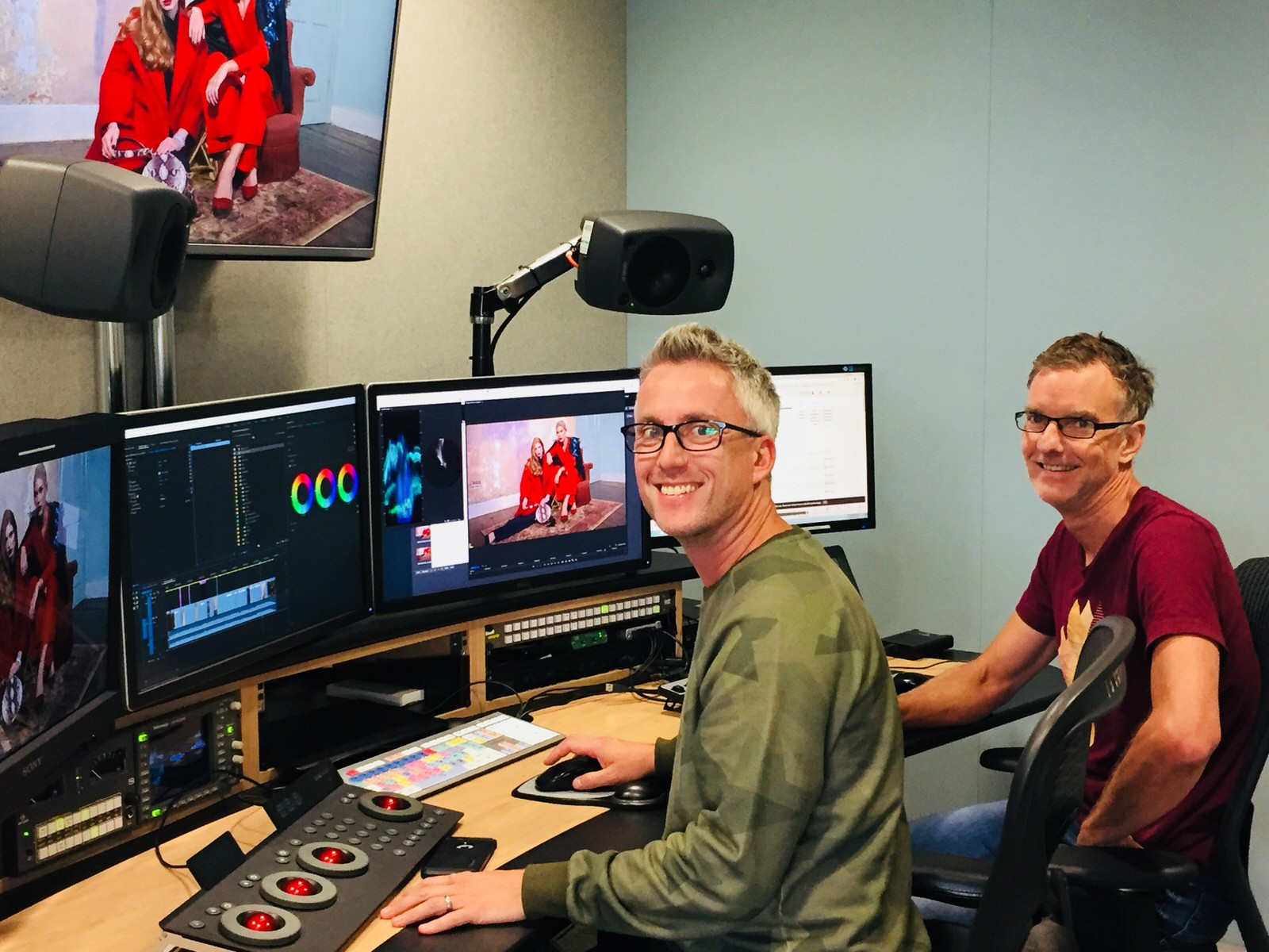 ELEMENTS at QVC Jon Stroud and Gordon Rutherford in Edit Suite