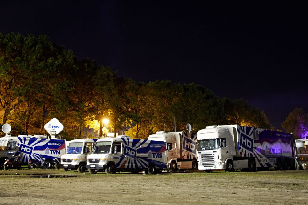 TVN OB vans fleet at Wacken Open Air