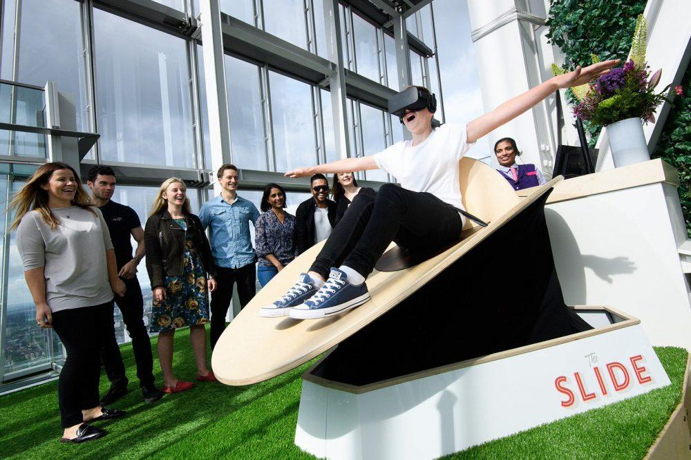 Happy Finish The Slide Shard London